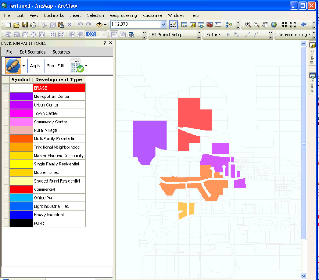 Planning software screenshot